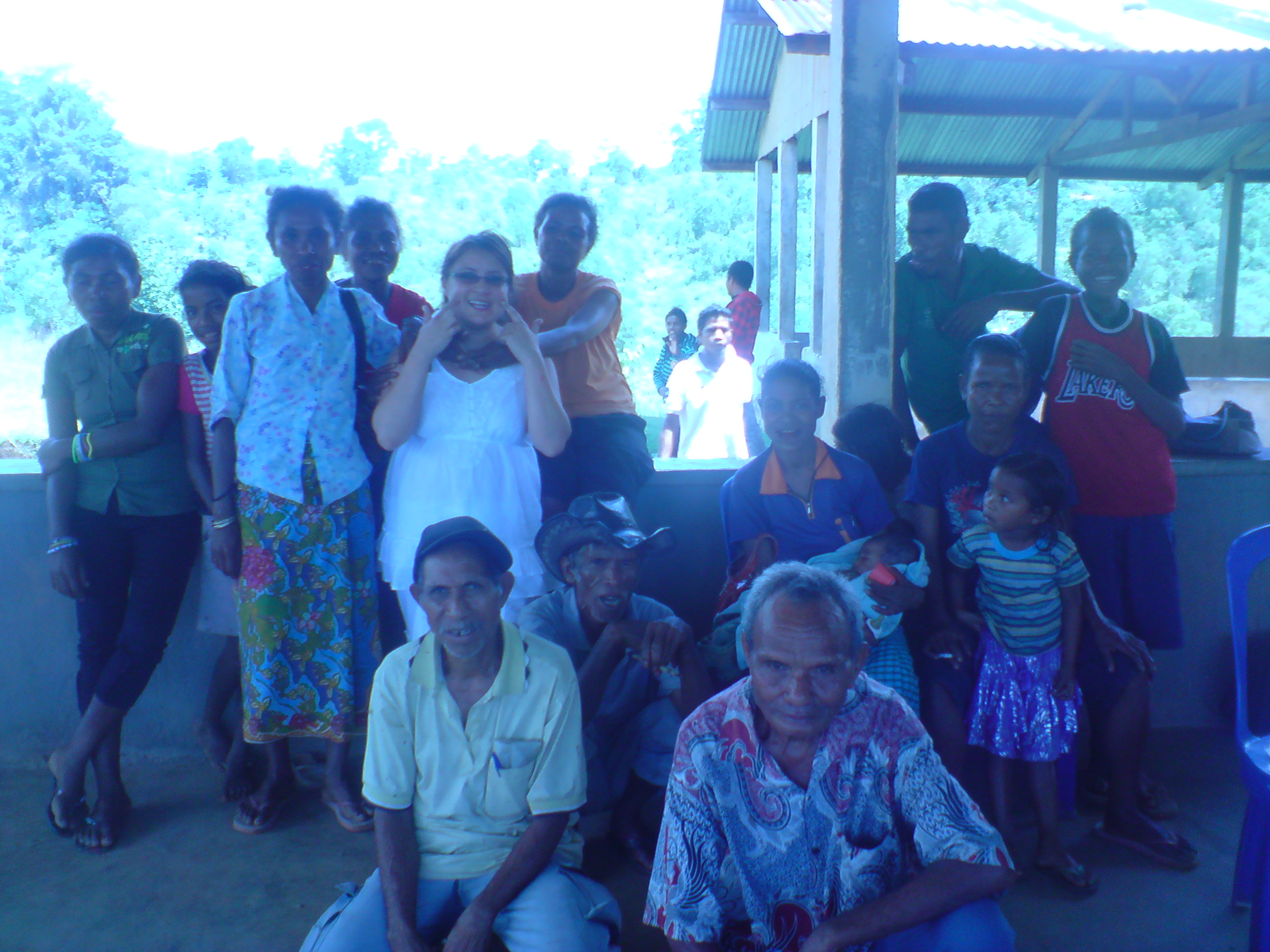 In East Timor with Farmers enrolling in the Small Business Course to Teach them how to run their micro businesses