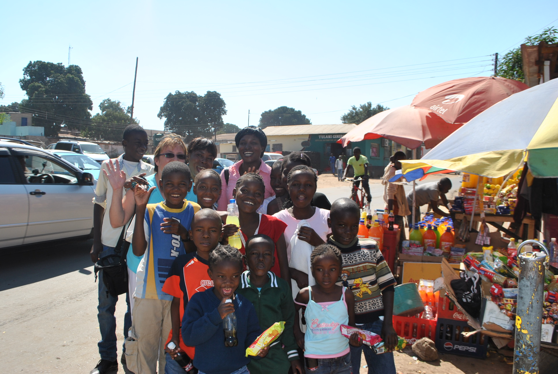 In Zambia with orphan children from the Church